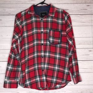 Rails Red Plaid Long Sleeve Button Down Top XS